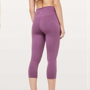 Lululemon In Movement Crop Sz 4